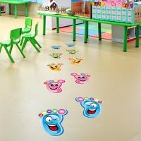 幼兒園小腳丫兒童腳印走廊自粘墻貼地板貼紙樓梯臺階地貼防水貼畫