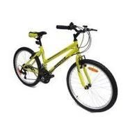 ALEOCA จักรยานเสือภูเขา MTB รุ่น Campagna เฟรมออกแบบให้เหมาะสำหรับผู้หญิง,ล้อ 24 นิ้ว, 18 สปีด (สีเหลือง/ดำ) พร้อมไฟหน้า