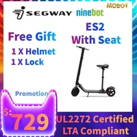 Ninebot E Scooter By SEGWAY ES2  with Seat UL2272 Certified Electric Scooter