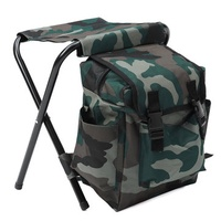 Foldable Fishing Chair Stool Camping Backpack Oudoor Travel Shoulder Sport Bag