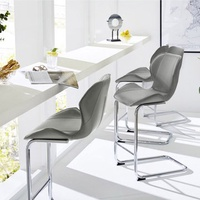 4Pcs/1Set Bar Beach Chair Modern Design for Dining And Kitchen Barstool with Metal Legs Set