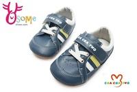 寶寶學步鞋 真皮鞋墊 吸汗防臭 台灣製 天鵝CHA CHA TWO寶寶鞋F3029#灰藍◆OSOME奧森鞋業