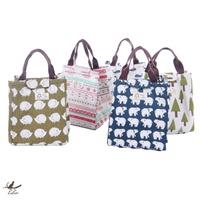 防水帆布手提保溫包 便當包 飯盒袋 午餐帶飯袋子 保溫袋