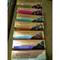 GODIVA  巧克力條  牛奶杏仁/黑巧覆盆子/黑巧薄荷/牛奶焦糖/牛奶/黑巧/白巧