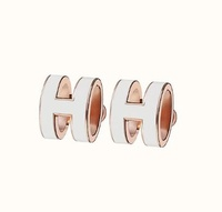 Hermes 白色耳環 H 字樣 數色現貨在台 附原廠盒 袋 歐洲帶回 麋鹿公主歐美時尚