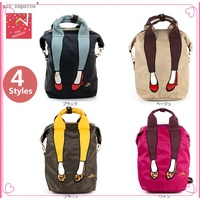 READY STOCK Japan Mis Zapatos Women Travel Backpack Beg Canvas Bag School Bags