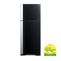 Hitachi Big 2 Glass Fridge R-VG560P7MS + Free Hitachi 1600W Vacuum Cleaner