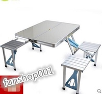 Suitcase folding tables and chairs portable grill table table aluminum table folding table