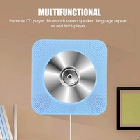 Portable CD Player New Wall Mounted Bluetooth CD Player Speaker with Remote Control (Blue US) - intl