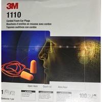 3M帶線耳塞1110 子彈圓錐型 有線耳塞 拋棄式耳塞 隔音耳塞1110帶線子彈型保護聽力 3M耳塞