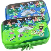 Double double zipper stationery box Australia smiggle with pen case pencil case