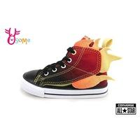Converse小童高筒帆布鞋 火焰漸層休閒鞋  G9879 黑  OSOME奧森鞋業