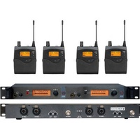 Soundhai SR2050 In Ear Wireless Stage Monitor System 2 Channel 4 Bodypack Karaoke Microphone System