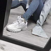 Authentic Fila Disruptor 2 (Triple White) Men