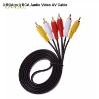 5FT 1.5m 3 RCA To 3 RCA Composite Gold Plated AV Cable  For TV DVD CD Player