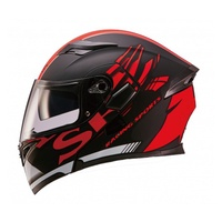 SBK SV / PRIDE 平黑紅 彩繪 /可樂帽/ 全罩式安全帽 /雙D扣環/內制鏡片【歐樂免運】