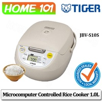 Tiger Microcomputer Controlled Rice Cooker 1.0L JBV-S10S