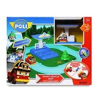恰得玩具 羅伊電動車與充電站遊戲組 /ROBOCAR POLI/波力 /救援小英雄RB83272
