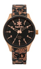 SUPERDRY SCUBA SNOW BLACK SILICONE WITH SNOWFLAKE PRINT STRAP WATCH SYL150B - intl