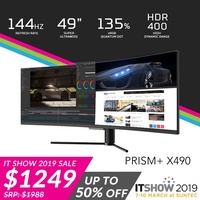 """PRISM+ X490 49"""" 144Hz Quantum Dot HDR400 Ultrawide Curved 32:9 [3840 x 1080] Gaming Monitor"""