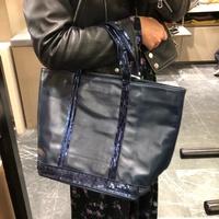 (預購)法國Vanessa Bruno小牛皮革亮片購物包/深藍