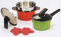 【HAPPYCALL】Alumite Ceramic Pots 2 pieces A type kitchen cook tool
