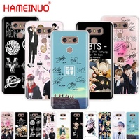 HAMEINUO BTS Bangtan Boys JUNG KOOK V SUGA case phone cover for LG G6 G5 K10 M250N M250 2017 2016
