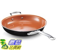 [8美國直購] 不沾鍋 Gotham Steel 9953 Non-Stick Titanium Frying Pan, 12.5吋, Brown (Discontinued)
