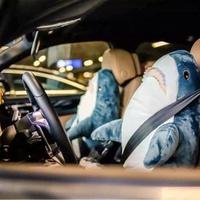鯊魚抱枕 宜家IKEA新品 BLÅHAJ 布羅艾宜家大鯊魚 毛絨玩具, 鯊魚寶寶靠枕抱枕禮物 XD