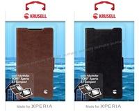 (贈專用保貼+支架)Krusell皮革側掀皮套/SONY Xperia Z5 Compact/側翻套/手機殼【馬尼通訊】