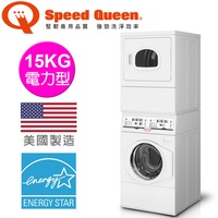 【Speed Queen】15KG智慧型旗艦疊立式洗乾衣機