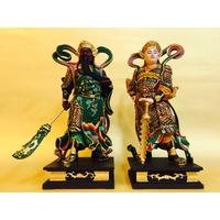 精緻手工彩繪護法神 - 伽藍菩薩.韋馱菩薩