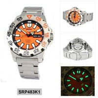 5 Sports Monster Silver Stainless-Steel Case Stainless-Steel Bracelet Mens SRP483K1