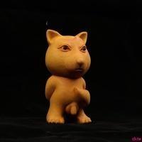 訂單滿199出貨黃楊木雕藏狐好屌的小狐貍個性小木雕手把件 【有DIY半成品可選】