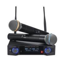 UHF Multifunction Wireless Karaoke Microphone System Mic Speaker for KTV Stage Conference Presentation