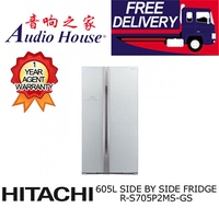 HITACHI R-S705P2MS-GS SIDE BY SIDE FRIDGE ***1 YEAR HITACHI WARRANTY***