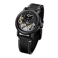 Arbutus AR1804BBB Anolog Automatic Black Leather Men Watch
