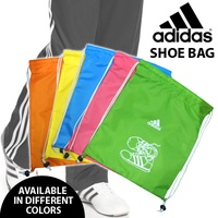 ADIDAS SHOE BAG 004362/ Comes in 5 bright colors: Blue Green Yellow Pink and Orange.
