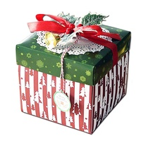 Vococal Christmas Theme Surprise Explosion Box DIY Scrapbook Photo Album Box with Accessories for Lover Family Friends Christmas Xmas Gifts