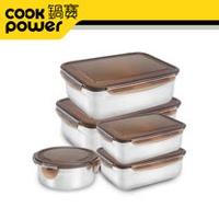 【鍋寶】316不鏽鋼保鮮盒收納5入組EO-BVS2011015031Z205