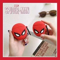 ❤現貨❤蜘蛛俠 3D矽膠加厚 airpods1保護套 Airpods保護套 個性超夯 藍牙耳機保護套 磁吸防丟繩 蜘蛛人