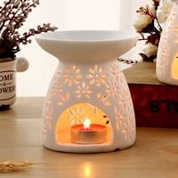 ZTStore Ceramic Large Fragrant Aromatherapy Furnace Candle Incensearomatherapy Lamp Oil Lamp Creative Bedroom Home Essential Oilincense Aromatherapy Fragrance Lamp Furnace