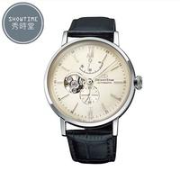 [ 秀時堂 ] ORIENT STAR 東方之星 經典紳士縷空機械腕錶-皮帶/淡金面銀 RE-AV0002S