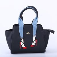 Japan mis Zapatos legs packets shoulder handbag high heels out travel bag female