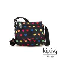 【KIPLING】繽紛愛心掀蓋側背小包-SABIAN