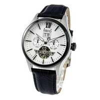 Arbutus Open Heart AR1614TBWB Anolog Automatic Black Leather Men Watch