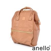 【日本正版anello】輕質皮革口金後背包《奶茶駝色 PI》 L尺寸