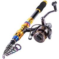 677D Folding Mini Travel Telescopic Portable Fishing Rod Foldable Fish Pole