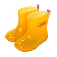 Stample日本製兒童果凍雨鞋(黃) 限時免運再送鞋墊 (公司貨)【普風歐美精品】