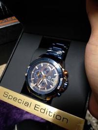 🚚 凱撒王手錶 真三眼 帶日期 計時功能 防水30米